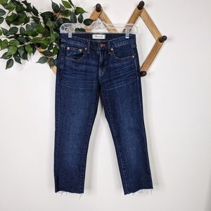 Madewell Mid Rise The Slim Boyjean Cropped Jeans